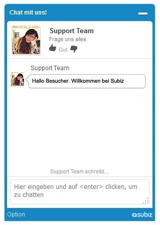 Subiz is in German now
