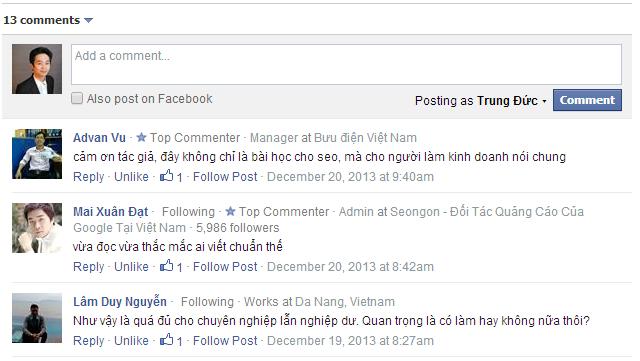 Tích hợp khung comment của faceboook vào website