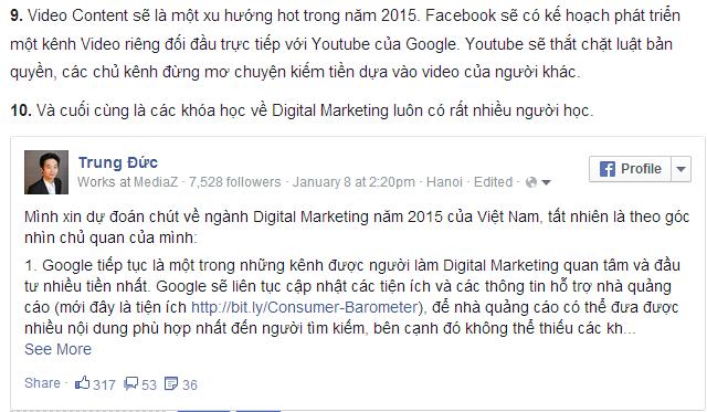 Nhúng nội dung chia sẻ trên facebook vào website của bạn