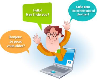 Subiz cung cấp 07 loại ngôn ngữ để bạn có thể tùy chỉnh