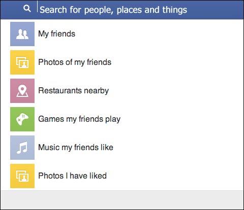 Facebook cho phép tìm kiếm những thứ mà bạn bè tôi thích