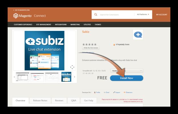 Subiz- live chat - Subiz extension for Magento
