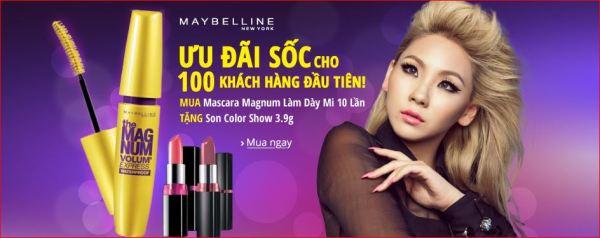 Maybeline áp dụng ưu đãi về số lượng người tham gia