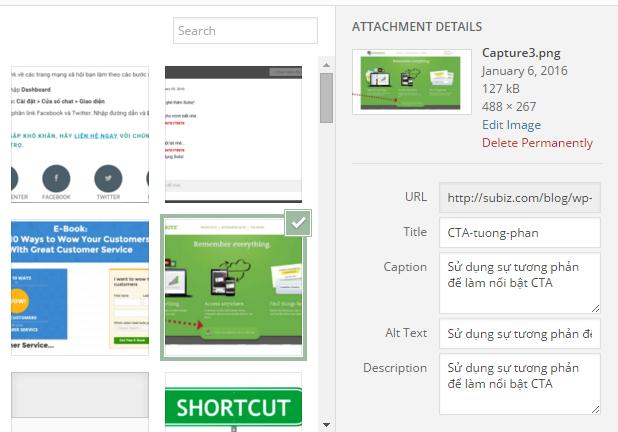 Thêm từ khóa vào tên và miêu tả ảnh - Tìm kiếm khách hàng tiềm năng từ SEO