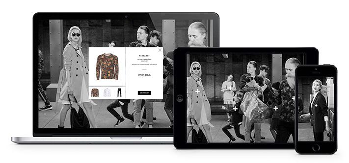 Lookbook với hình ảnh chuyển động chậm thiết kế riêng cho di động