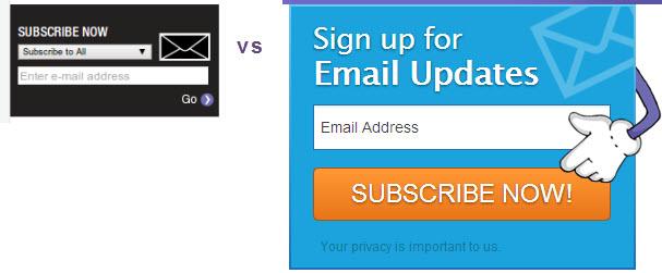 Hãy hướng người đọc tiến hành đăng ký theo dõi blog