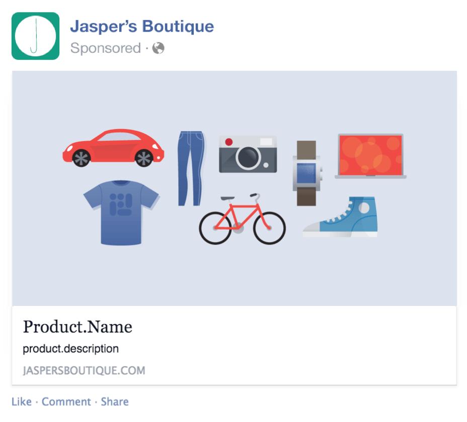 Template quảng cáo Facebook định dạng chuẩn