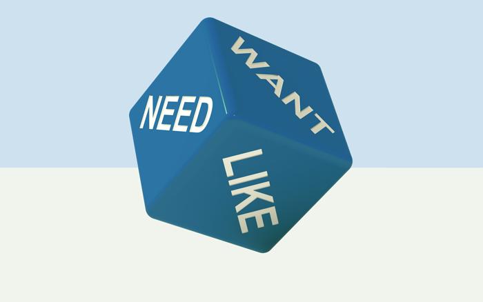 keinginan dan kebutuhan