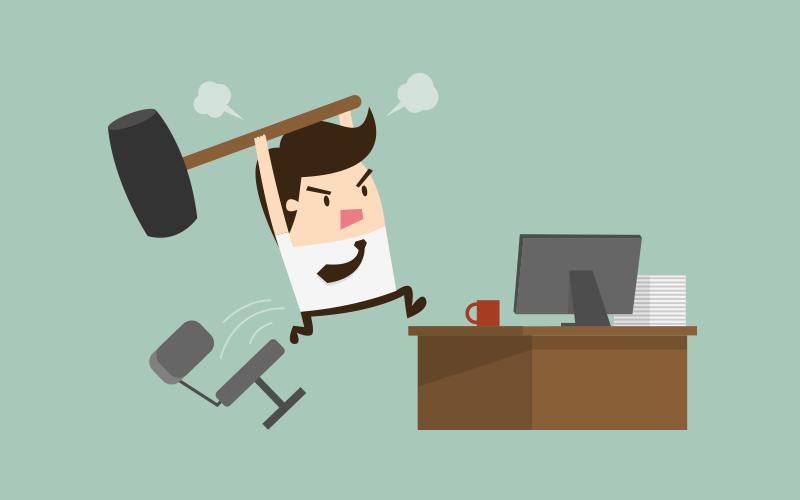 Luôn cố gắng giữ bình tĩnh khi làm việc với khách hàng