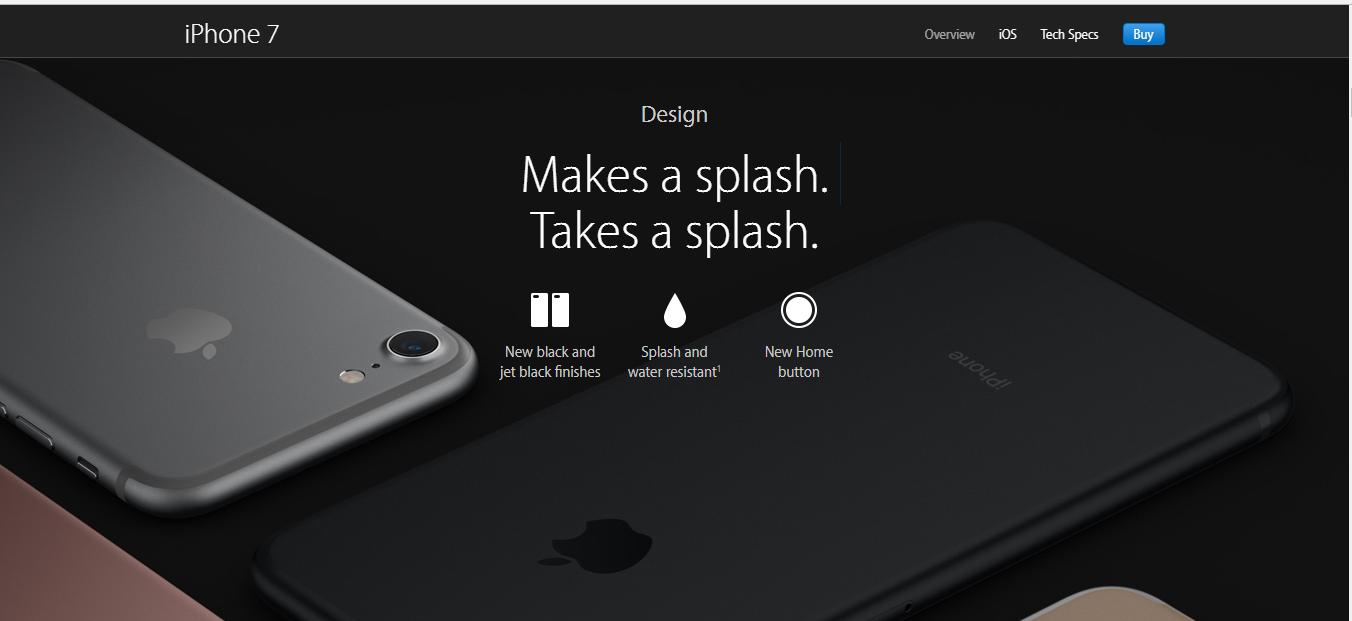 Mô tả sản phẩm iPhone 7 của Apple