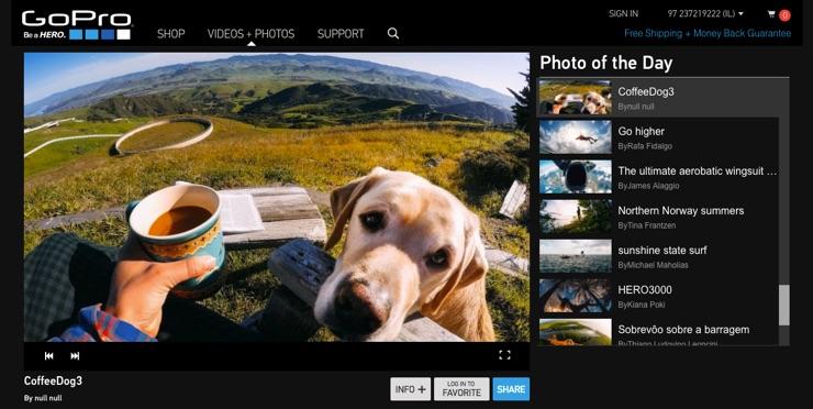 Cách truyền tải nội dung do người dùng sáng tạo thông minh của GoPro