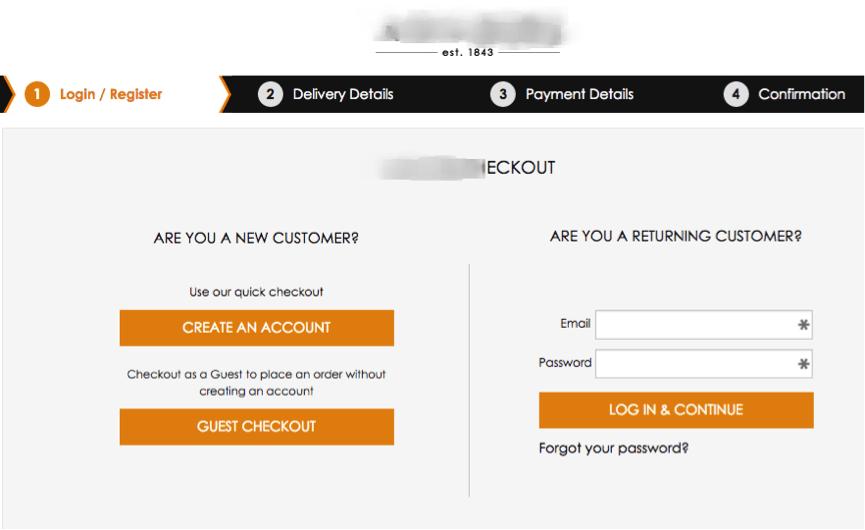 Hành trình khách hàng checkout