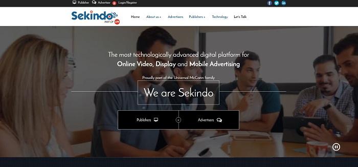 Sekindo ứng dụng marketing cảm xúc trong thiết kế trang chủ