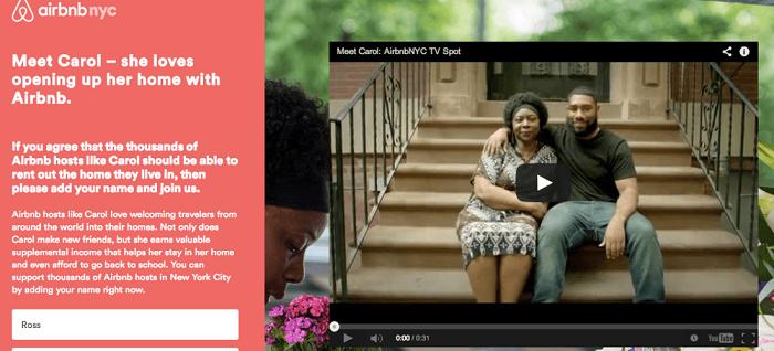 Airbnb ứng dụng kể chuyện vào thiết kế trang đích