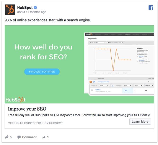 HubSpot và mẫu quảng cáo khiến người xem đặc biệt tò mò