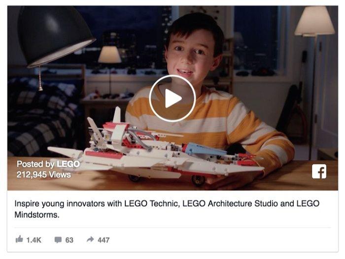 chiến dịch Facebook của LEGO