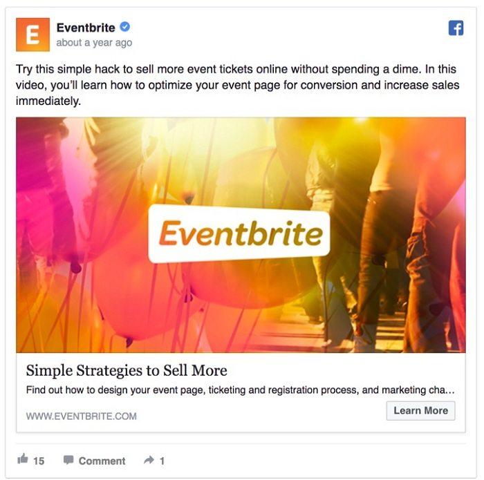 marketing cảm xúc Eventbrite