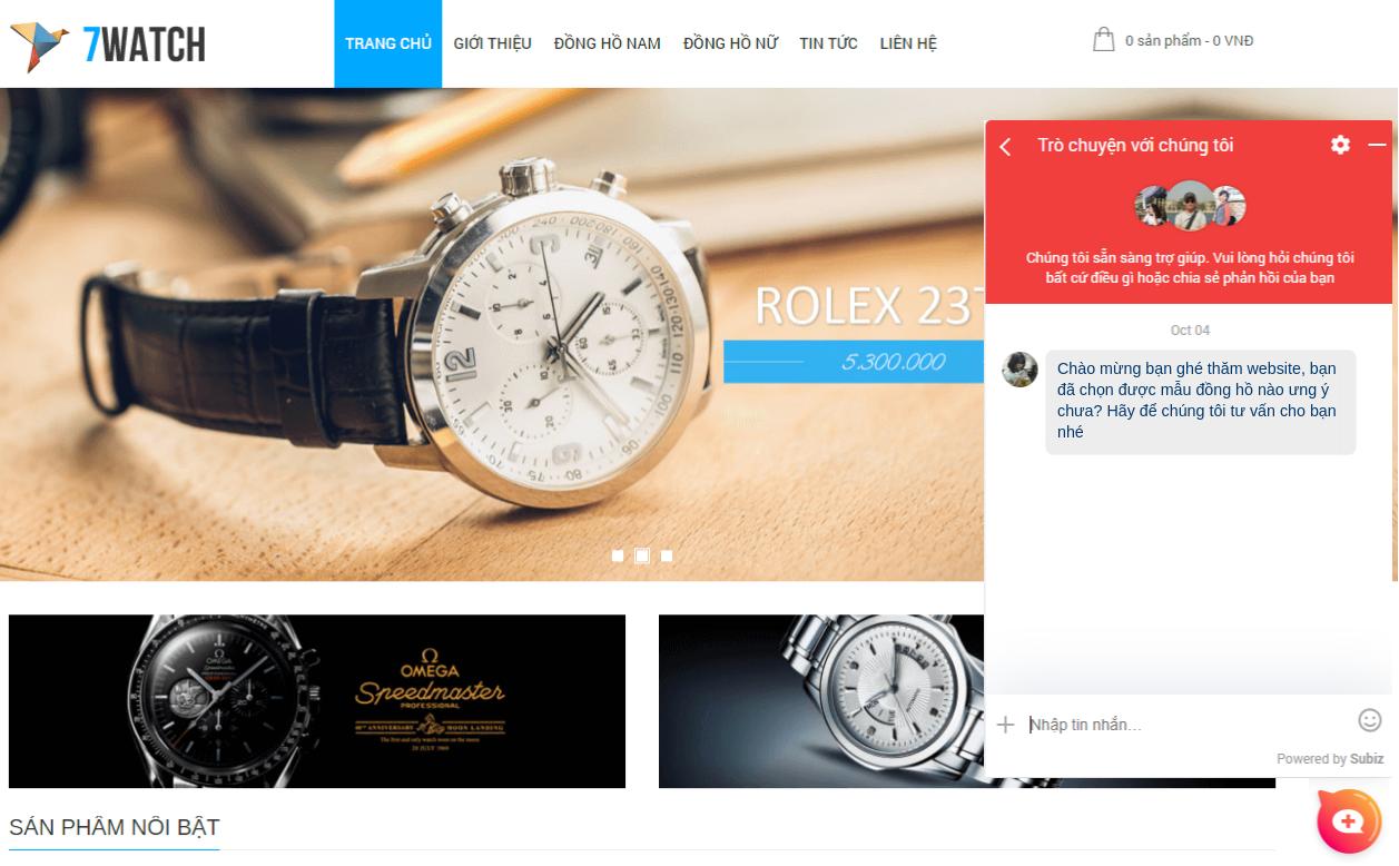 Trải nghiệm mua sắm tuyệt vời trên website Đồng hồ