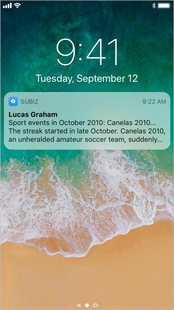 Thong bao tren Subiz App Mobile