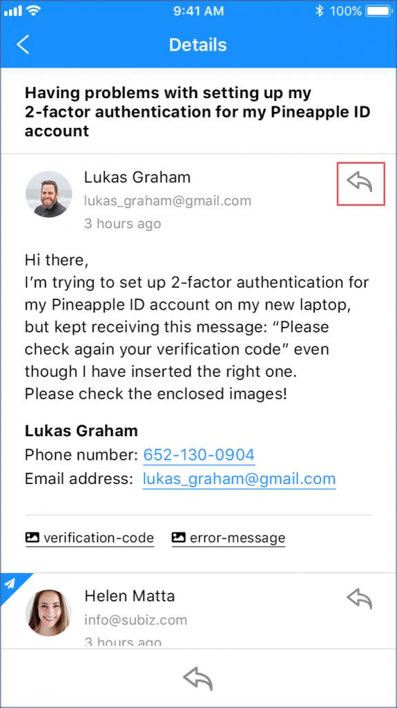 Phản hồi Email khách hàng ngay trên Subiz App Mobile