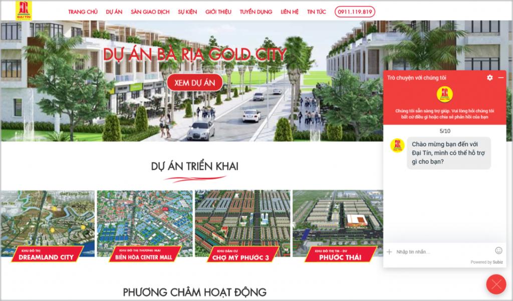 kinh doanh bat dong san tren website