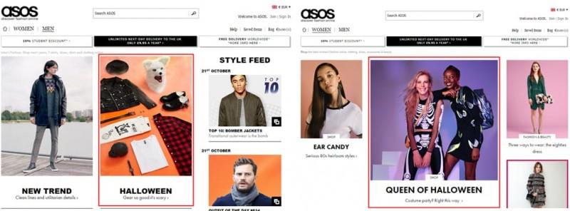 Asos với landing page thấu hiểu sự khác biệt về giới tính, hướng tới trải nghiệm khách hàng hoàn hảo