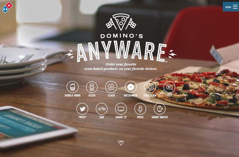 Dominos Anyware cho phép khách hàng đặt món dễ dàng qua Google Home, Alexa, Slack